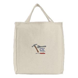 Werkzeuge des Handels Bestickte Einkaufstaschen