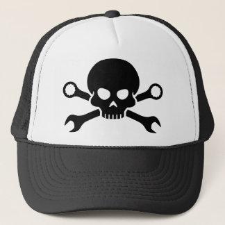 """Werkzeuge des Schädel-""""n"""" - schrauben Sie Piraten Truckerkappe"""