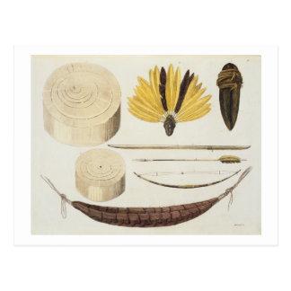 Werkzeuge, Waffen und Geräte von Puri und von Postkarte