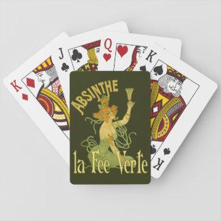Wermut-grüne feenhafte La-Gebühr Verte, Plakat Spielkarten