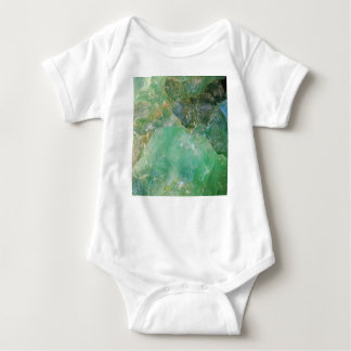 Wermut-grüner Quarz-Kristall Baby Strampler