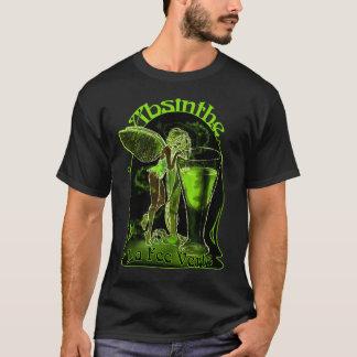 Wermut-La-Gebühr Verte Fee mit Glas T-Shirt