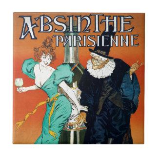 Wermut Parisienne Vintage französische Anzeige Fliese