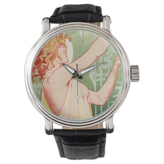 Wermut Robette - Alkohol-Vintages Plakat Armbanduhr