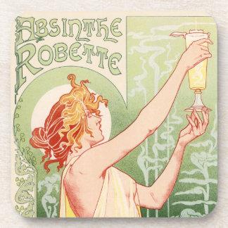 Wermut Robette - Alkohol-Vintages Plakat Getränkeuntersetzer