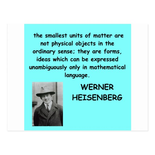 Werner Heisenberg Zitat Postkarten