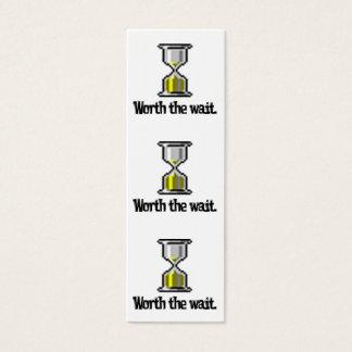wert das Wartezeit-PC Hourglass-Lesezeichen Mini Visitenkarte