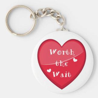 Wert die Wartezeit - Adoption - neues Baby Schlüsselanhänger