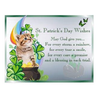 Wertvoller Kätzchen-St Patrick Tag - Sie haben Postkarte
