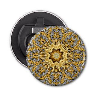 Wertvoller Metallkaleidoskop-magnetische Runder Flaschenöffner