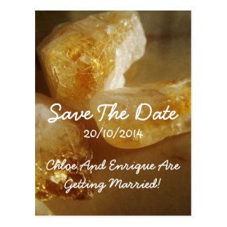 Wertvolles Edelstein-Foto, das Save the Date Postkarte