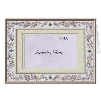 Wertvolles Hochzeits-Tabellen-Sitzplatz-Menü Grußkarte