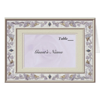 Wertvolles Hochzeits-Tabellen-Sitzplatz-Menü Karte