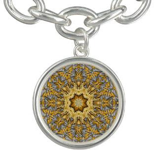 Wertvolles MetallVintages Muster-Charme-Armband Charm Armband