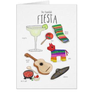 Wesensmerkmale: Eine Fiesta-Karte Karte