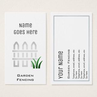 """Wesentliche"" Garten-Fechter-Visitenkarten Visitenkarte"