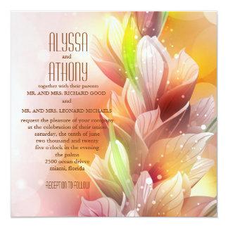 Wesentliches der Frühlings-Hochzeits-Einladung Quadratische 13,3 Cm Einladungskarte