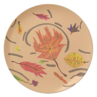 Wesentliches Herbst-der wirbelnden Teller