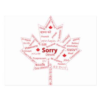 Wesentliches kanadisches Wort Postkarten