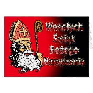 Wesolych Swiat Bozego Narodzenia Weihnachtskarte Karte