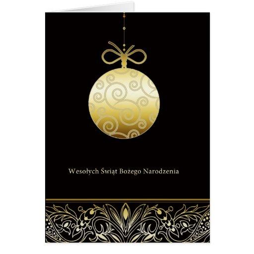 weso ych wi t frohe weihnachten auf polnisch karte zazzle. Black Bedroom Furniture Sets. Home Design Ideas