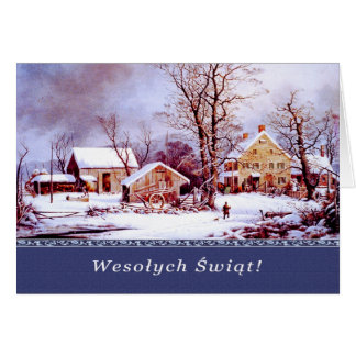 Polnisches weihnachten gru mitteilungskarten - Amerikanische weihnachtskarten ...