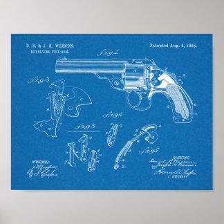 Wesson-Gewehr-Patent-Kunst 1885, die Druck Poster
