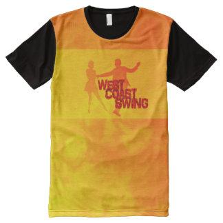 West Coast Swing T-Shirt Mit Bedruckbarer Vorderseite