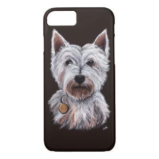 West Highland Terrier Dog Pastel Pet Illustration iPhone 7 Hülle