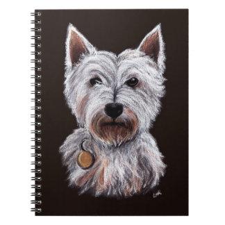 West Highland Terrier Dog Pastel Pet Illustration Notizblock