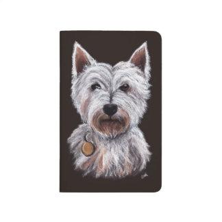 West Highland Terrier Dog Pastel Pet Illustration Taschennotizbuch