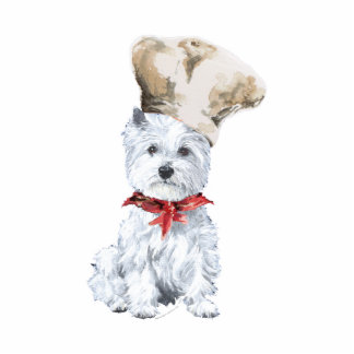 West Highland White Terrier Chef Photo Cut Out