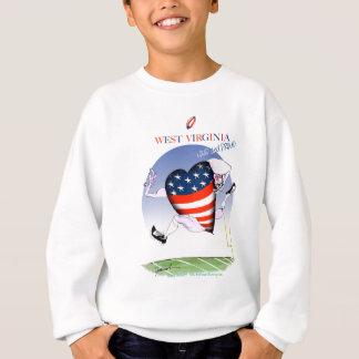 West Virginia laute und stolz, tony fernandes Sweatshirt