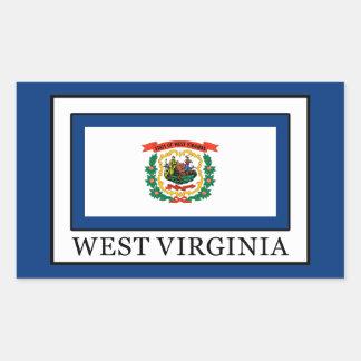 West Virginia Rechteckiger Aufkleber