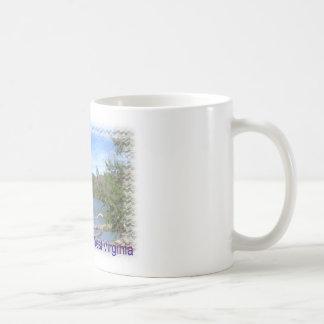 West Virginia rustikaler See Kaffeetasse
