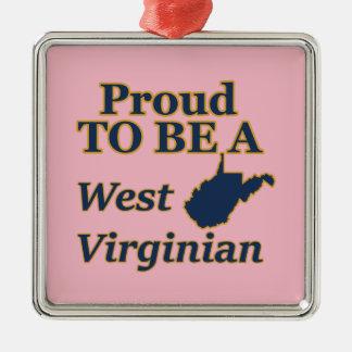 West Virginia, stolz, ein WestVirginian zu sein Silbernes Ornament