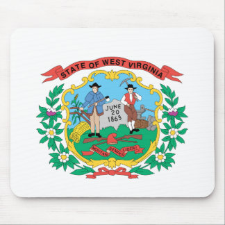 WEST- VIRGINIAflaggen-Entwurf - Mousepad