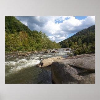 West- Virginiafluss-Druck Poster