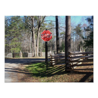 West- Virginialand-rustikaler Park-Stoppschild Poster