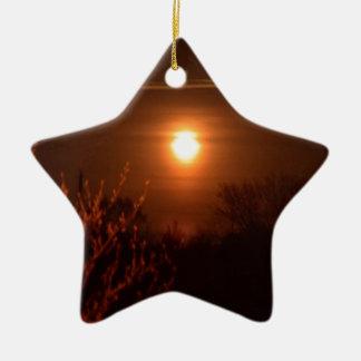 West- Virginiasonnenuntergang Keramik Ornament