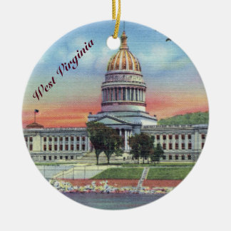 West- VirginiaStaats-Hauptstadt Keramik Ornament