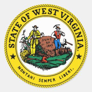 West- VirginiaStaats-Siegel Runder Aufkleber