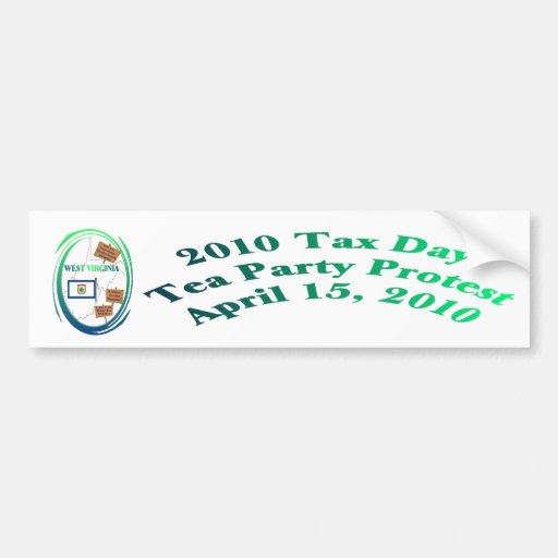 West- Virginiasteuer-Tagestee-Party-Protest Auto Sticker