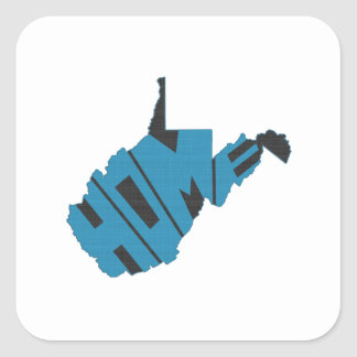 West- VirginiaZuhause-Staat Quadratischer Aufkleber