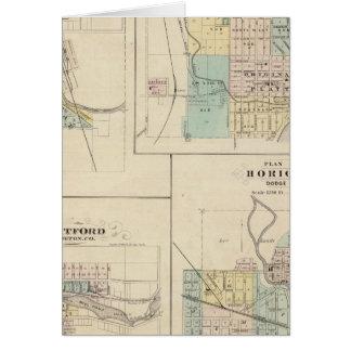 Westbiegung, Hafen Washington, Hartford und Karte