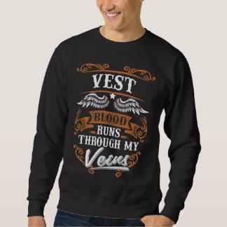 WESTE Blut-Läufe durch mein Veius Sweatshirt