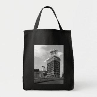 Western-Auto-halbes Zylinder-Gebäude Einkaufstasche