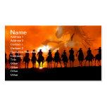 Western-Cowboy-Rodeo-Zusammenfassungs-wildes Visitenkarten