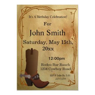 Western-Cowboystiefel-Einladung 12,7 X 17,8 Cm Einladungskarte