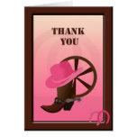 Western-Cowgirl-Gewohnheit danken Ihnen